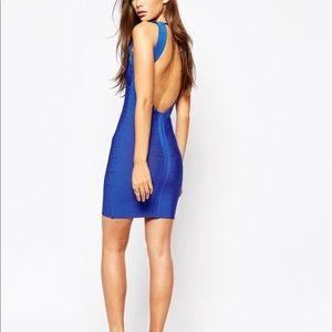 Royal blue body con dress